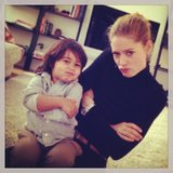 Doutzen Kroes and her son, Phyllon James, took an adorable (and pouty) photo together. Source: Instagram user doutzenkroes1