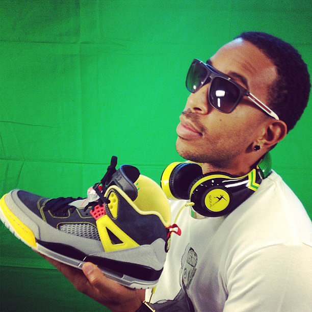 Ludacris matched his shoes to his headphones. Source: Instagram user itsludacris