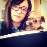 Emmy Rossum's dog helped her memorize her lines. Source: Instagram user emmyrossum