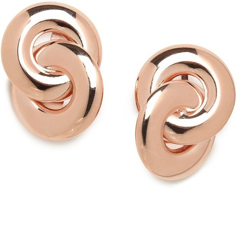 Rose Double-Link Studs