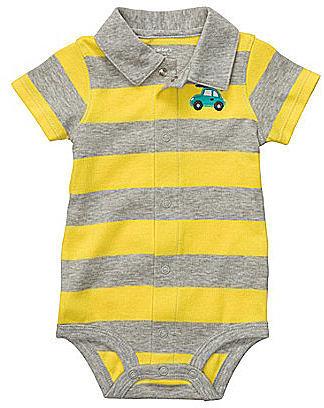 Carter ́s Newborn Wide-Striped Collared Creeper