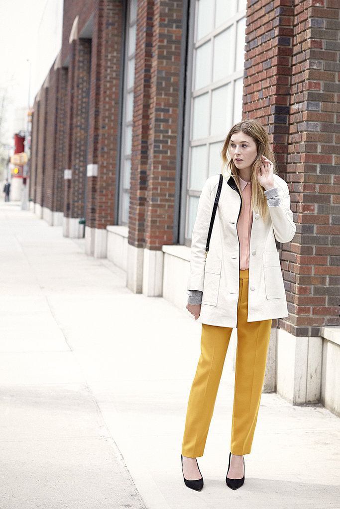 Try trousers and tops in brights and pastels.
