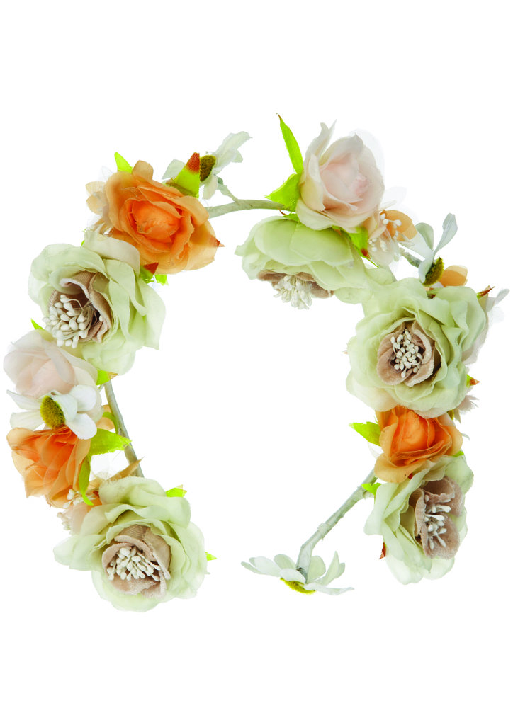 The quintessential — if not a bit hippie nostalgic — floral-wreath headband from the Topshop Festival Collection for Summer 2013, inspired by Kate Bosworth.