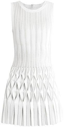 Azzedine Alaïa Origami pleated-skirt dress