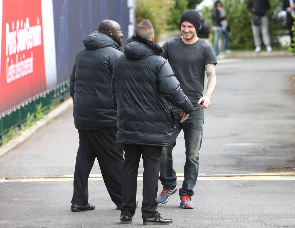 David Beckham left practice with Paris St.-Germain after announcing his retirement from soccer.