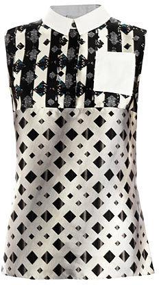 Peter Pilotto Michon geometric dotty-print shirt
