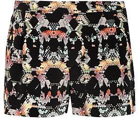 Tibi Kaleidoscope print shorts