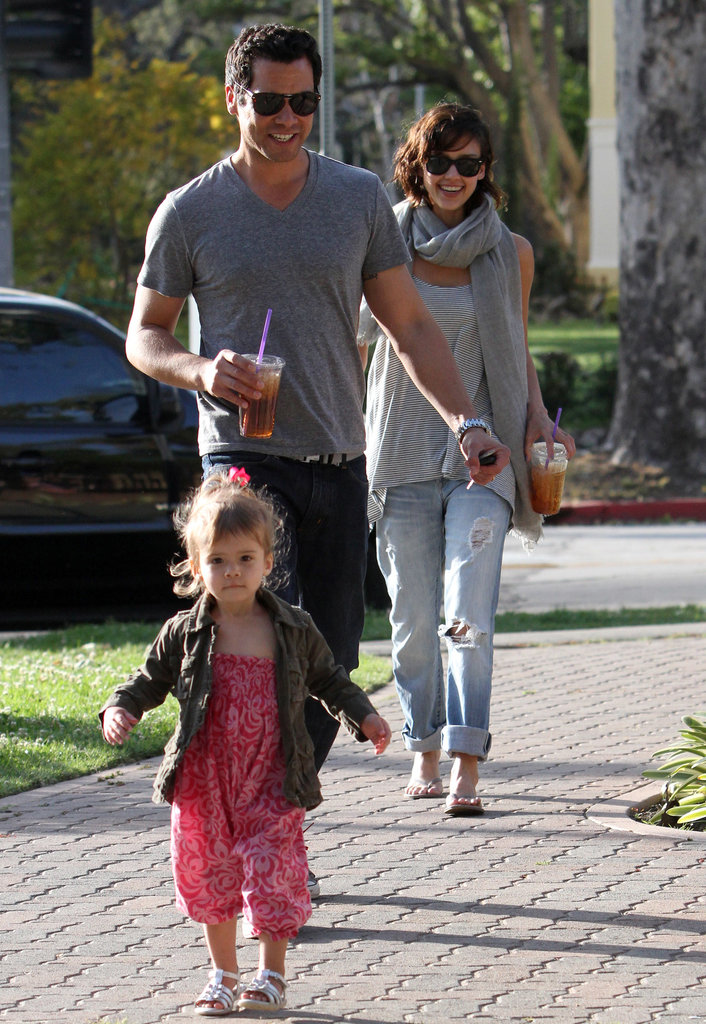 Cash Warren and Jessica Alba chased after their daughter Honor in LA in March 2010.