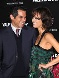 Jessica Alba got support from Cash Warren at the LA premiere of her movie Valentine's Day in February 2010.