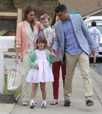 Jessica Alba and Cash Warren took their daughters, Honor and Haven, to Easter celebrations in March 2013 in LA.