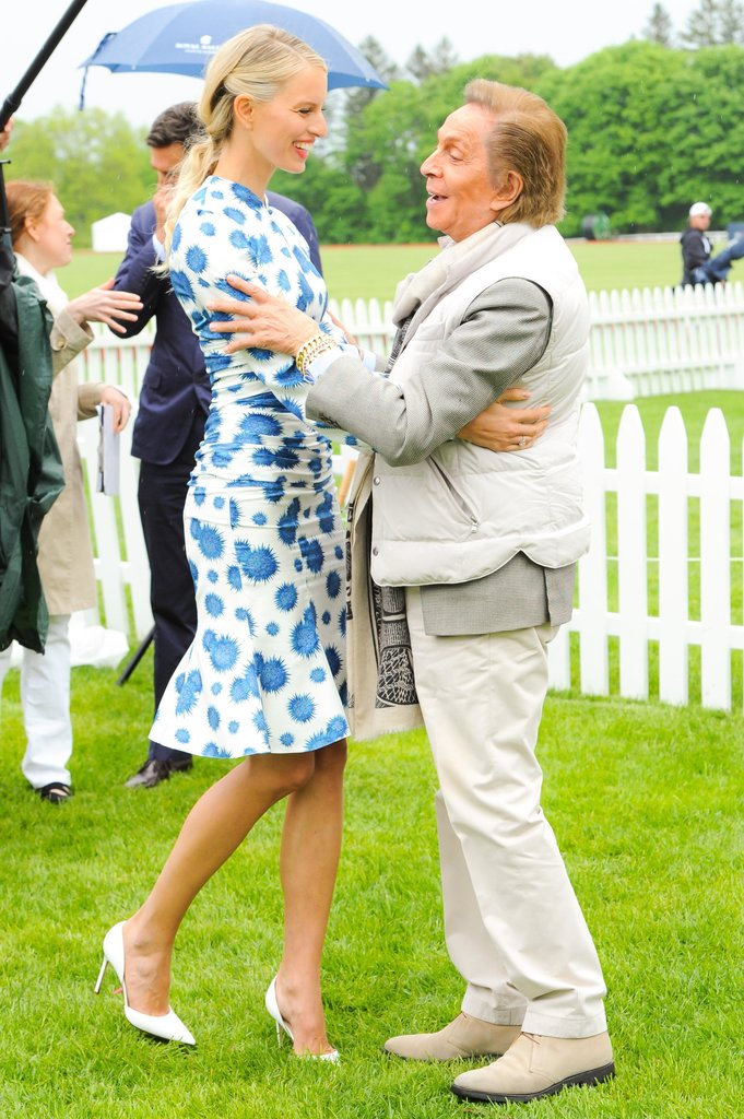 Karolina Kurkova and Valentino Garavani at Prince Harry's Sentebale Royal Salute Polo Cup in Greenwich, CT. Source: Joe Schildhorn/BFAnyc.com