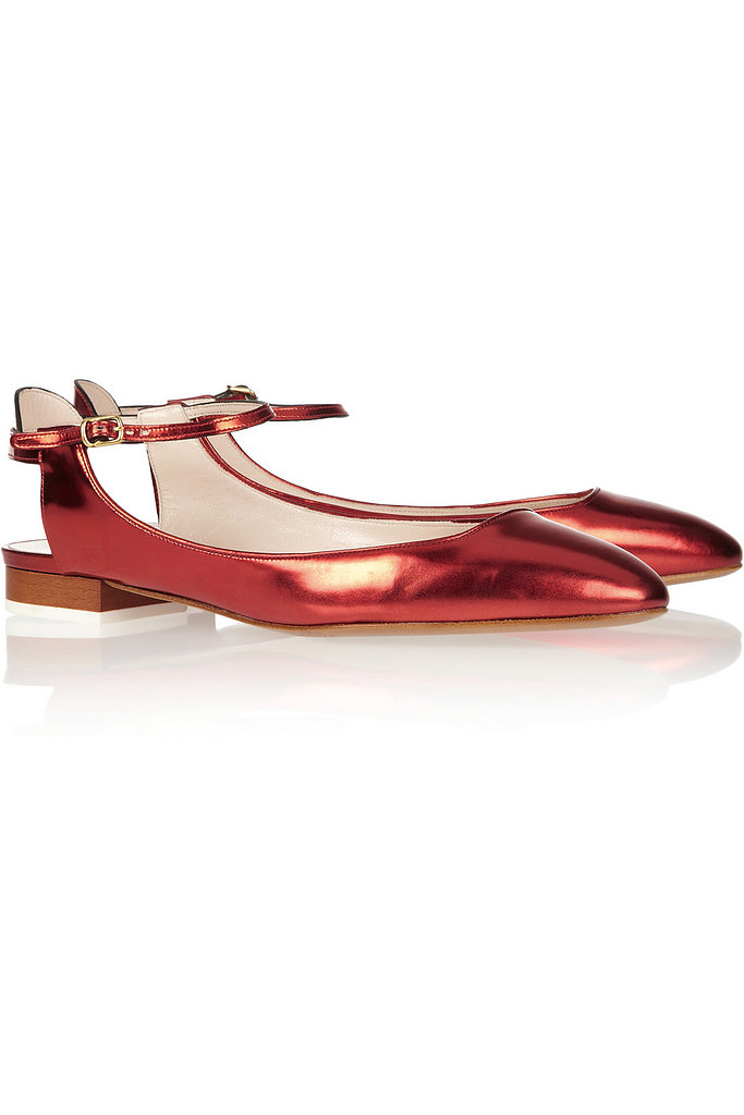 A worthy investment piece, these Chloé mirrored-leather Mary Jane ballet flats ($595) could make the switch from daytime polish to evening chic. Add them to a pencil skirt at the office or a sweet LBD for date night.