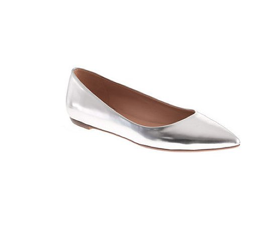 Metallics are an easy way to dress up just about anything in your wardrobe — even easier when they come in the form of an everyday flat like these J.Crew Viv metallic flats ($118).