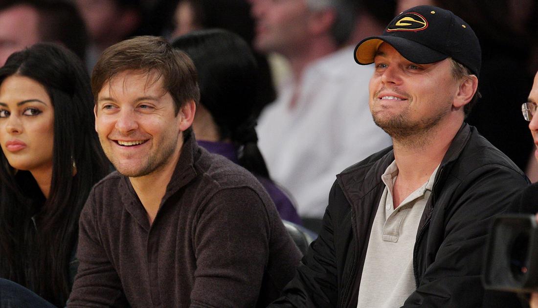 Photo of Leonardo DiCaprio & his friend  Tobey Maguire