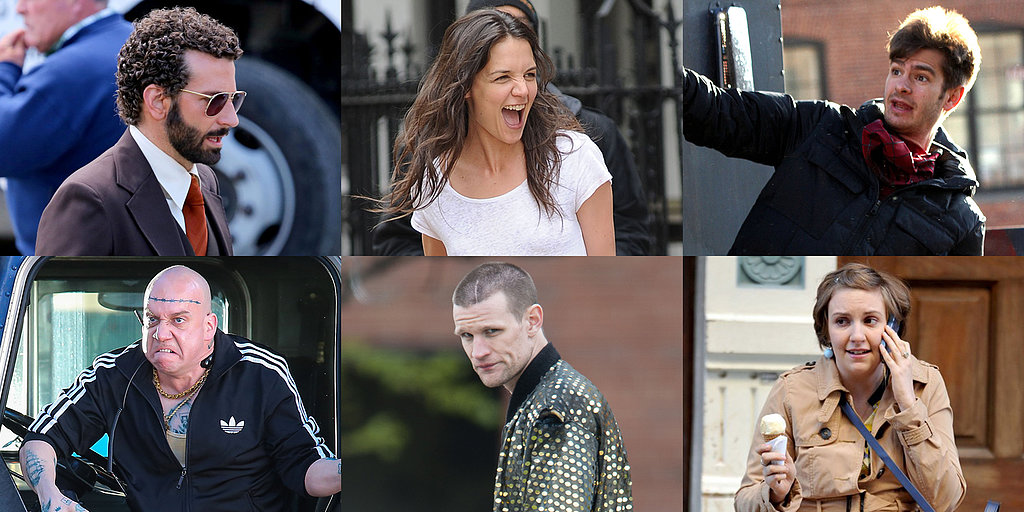 Katie Holmes, Andrew Garfield, Lena Dunham, and More Stars on Set