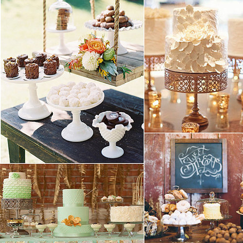 Keeping your theme and your love for sweets in mind, POPSUGAR Food found dessert tables fitting for all weddings. Whether you're the rustic or romantic type, rest assured your sweet tooth will be satisfied.