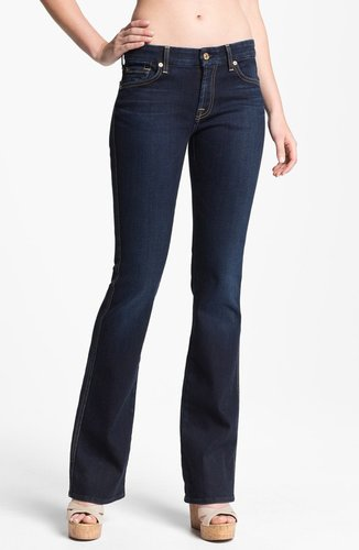 7 For all Mankind 'Kimmie' Bootcut Jeans (Slim Illusion Dark Rich Blue)