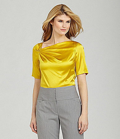 Antonio Melani Susie Asymmetric-Neck Blouse