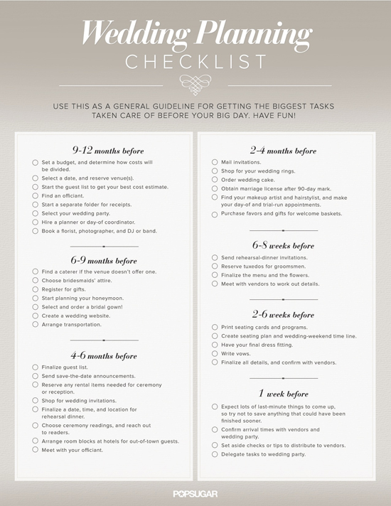 Stunning  Month Wedding Planning Checklist Ideas  Styles  Ideas