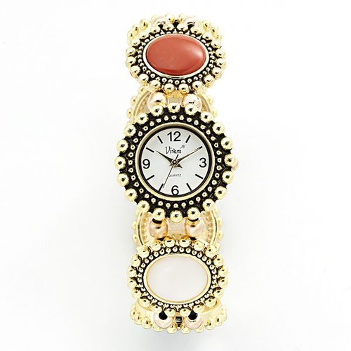 Vivani cabochon stretch watch - women