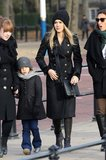 A double-breasted, military coat like Jessica Alba's will always hold classic appeal.