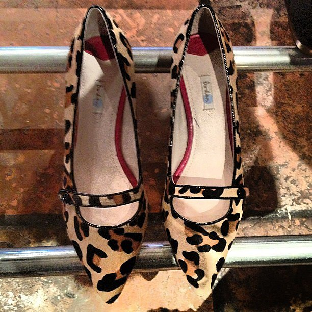 Leopard-print Mary Janes! The perfect shoe to take us straight into Fall.