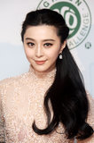 Fan Bingbing swept her extralong hair to one side in a unique half-up hairstyle for her appearance at the Chopard luncheon.