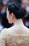 Fan Bingbing's formal up 'do at the Jeune & Jolie premiere at Cannes was a series of twists and braids that coalesced into a chic chignon.