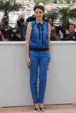 Bérénice Bejo went head-to-toe blue in Louis Vuitton for her Le Passé photocall.