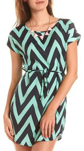 Chevron Stripe Shift Dress