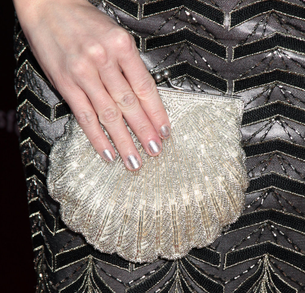 Actress Jen Lilley of The Artist fame shows how a silver manicure can lend a touch of decadence to your look.