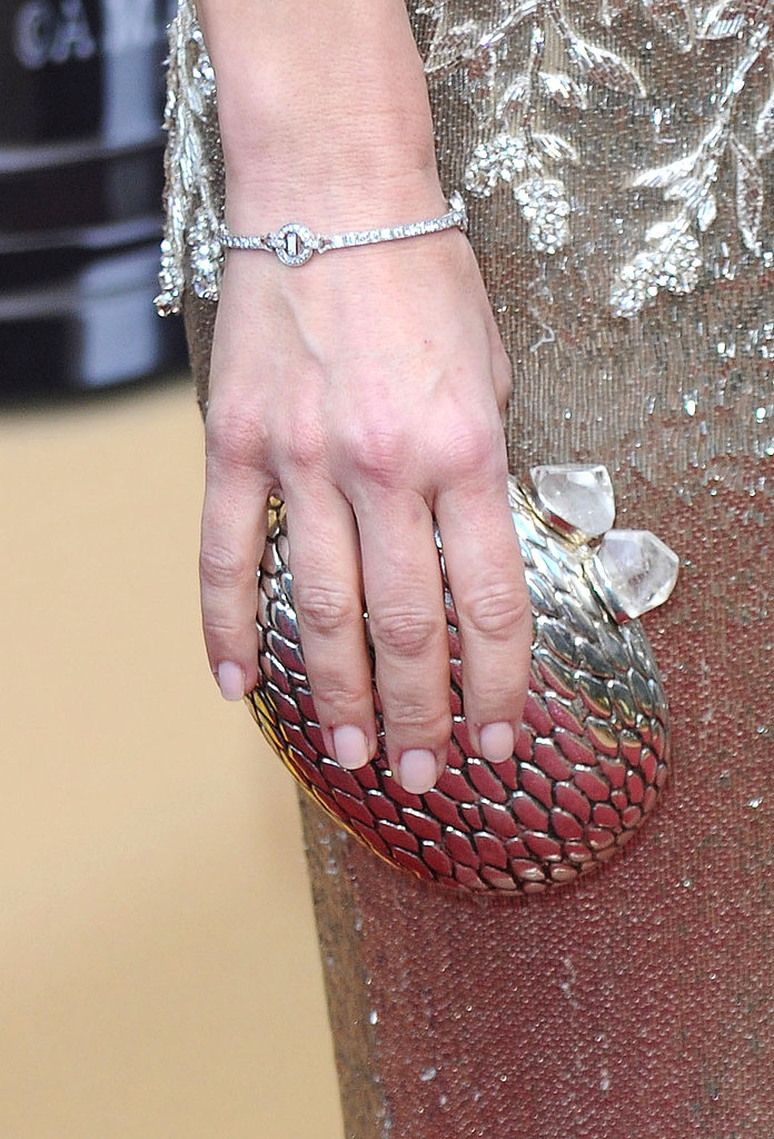 Sandra Bullock at the Academy Awards proved that pale pink is the perfect choice for showing off some sparkle.