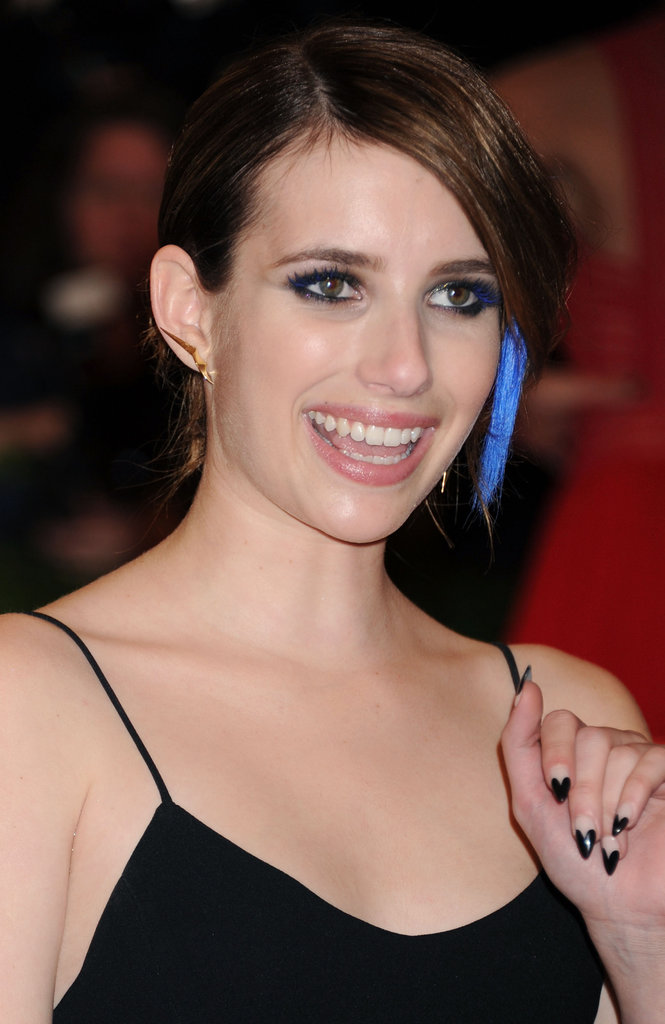 Emma Roberts went for a punk vibe with black heart tips at this year's Met Gala, but you can reimagine this nail design with pink, red, or even glittering tips.