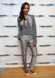 Zoe Saldana had another stylish Star Trek outing in a sharp, coordinating suit by Antonio Berardi.