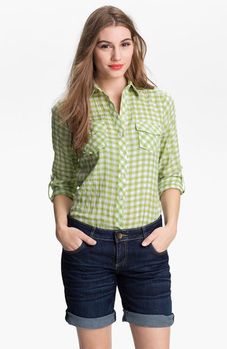 Sandra Ingrish Two Pocket Gingham Shirt