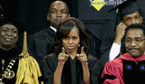 Michelle Obama encouraged the graduates.