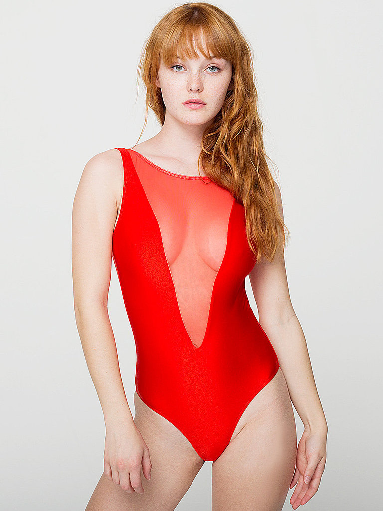 A steamy cut and hue combine for a siren suit. Wear this American Apparel pick ($50) with bold confidence.