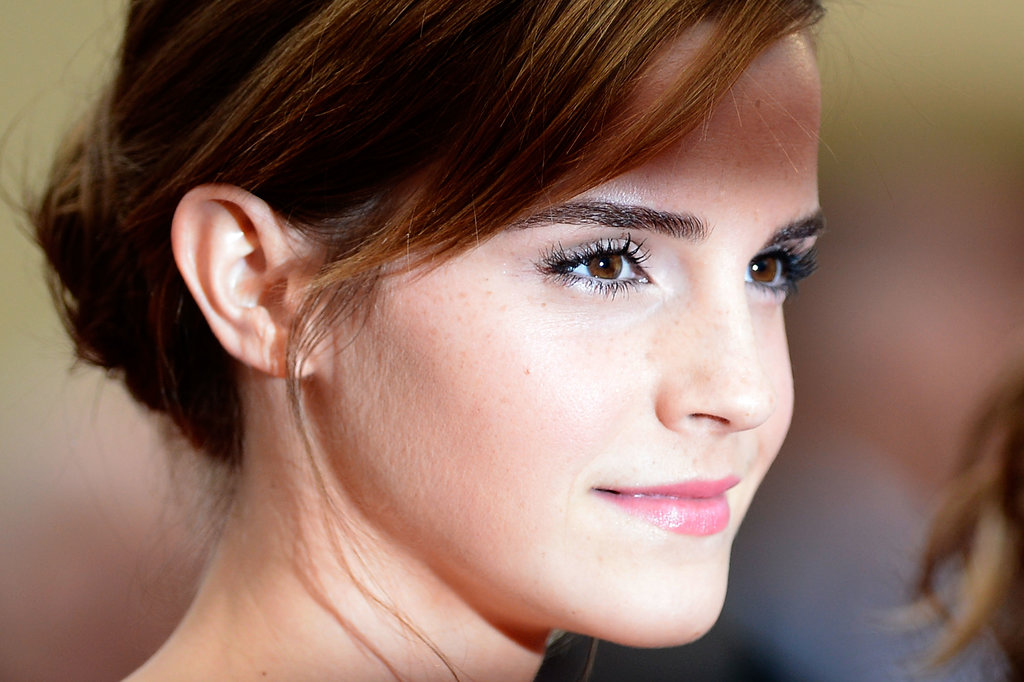 Emma up close — that skin!