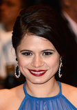 And fellow actress Melonie Diaz kept it modern with a plum lip.
