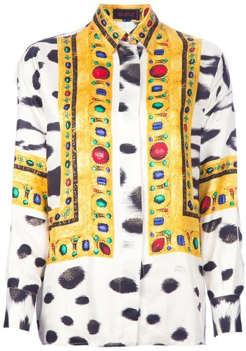 Istante By Gianni Versace Vintage printed shirt