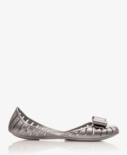 FOREVER 21 Mel for Forever 21 Metallic Cutout Jellies