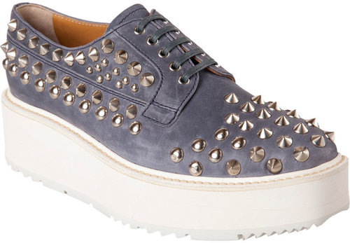 Prada Studded Platform Oxford
