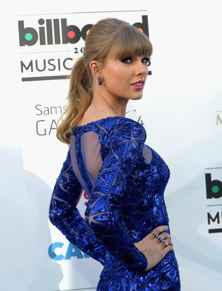 Taylor Swift's dress had a sheer back at the Billboard Music Awards.