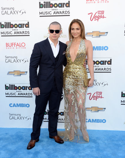 Jennifer Lopez and Casper Smart at the 2013 Billboard Music Awards.