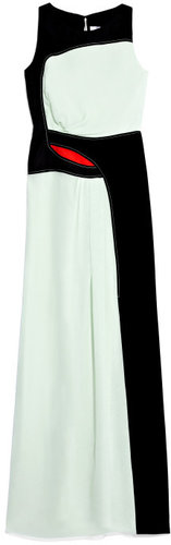 Carolina Herrera Chiffon Ruched Gown