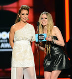 Avril Lavigne and Alyssa Milano presented an award together.