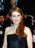Julianne Moore's siky red mane has never looked better, and those lightly flushed cheeks add a youthfeel feel to this Cannes look.