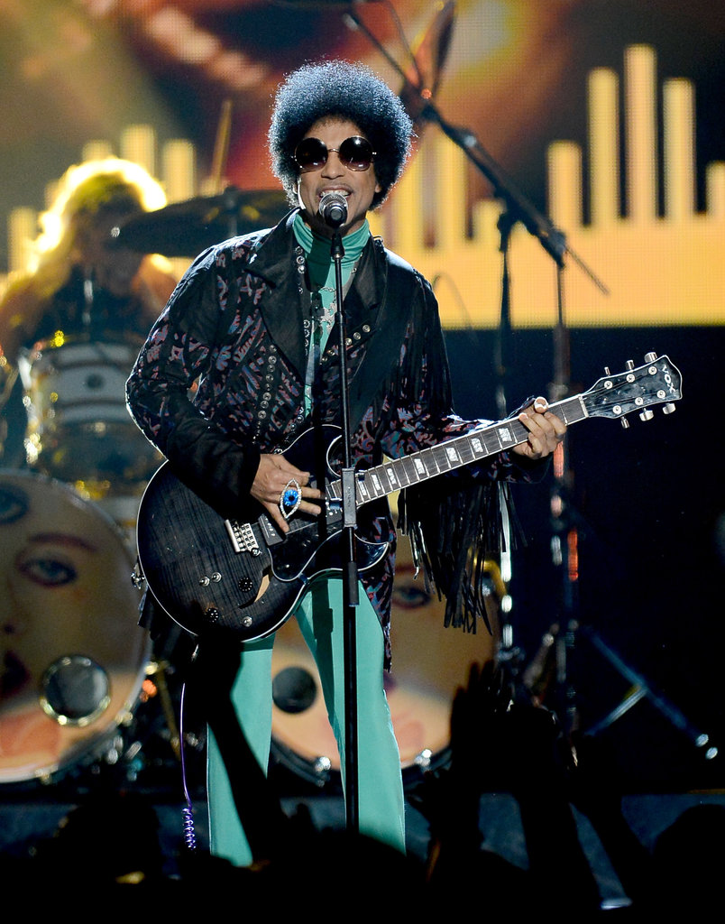 Prince performed during the show.
