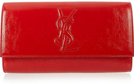 Yves Saint Laurent The Belle de Jour patent-leather clutch