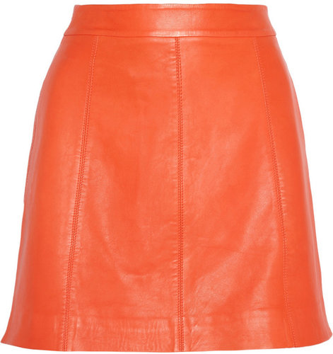 Marc by Marc Jacobs Jett leather A-line mini skirt